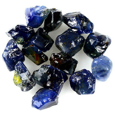 UNHEATED! 15pcs, 20.00ct NATURAL100% UNHEATED BLUE SAPPHIRE ROUGH SPECIMEN NR!