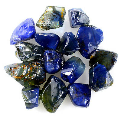 UNHEATED! 15pcs, 22.30ct NATURAL100% UNHEATED BLUE SAPPHIRE ROUGH SPECIMEN NR!