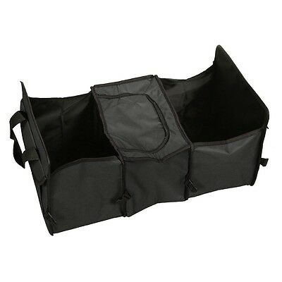3 Compartment Car Truck Collapsible Storage Basket Organizer Insulated Cooler