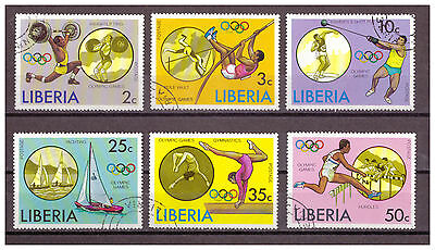 Liberia, Olympische Sommerspiele, Montreal MiNr. 990 - 995, 1976 used