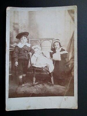 Edwardian Children, Beautifully Dressed, Great Fashion - Real Photo Postcard