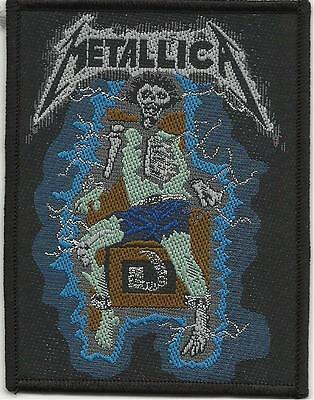 METALLICA electric chair RARE - WOVEN SEW ON PATCH official - no longer made