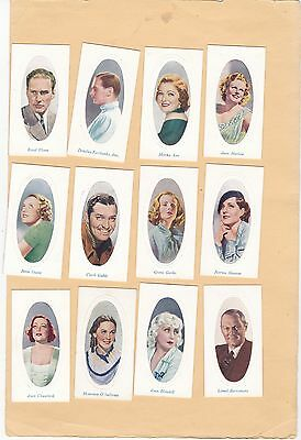 "Godfrey Phillips Full Set 48 Screen Stars  Ser ""b"".cat.£50.00.1936"