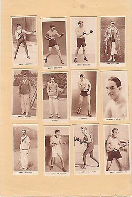 Godfrey Phillips Full Set 36 Sporting Champions.cat £100.00. Issued 1929.