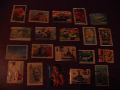 20 Timbres Obliteres Australie - 20 Used Stamps Australia