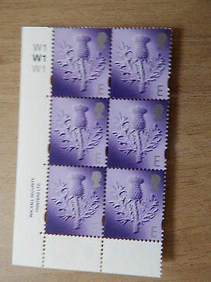 1999 S96 E  Walsall Scotland  Regional Without Borders In Cyl W1 Block Of 6  Mnh