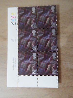 1999 S98 65pWALSALL SCOTLAND  REGIONAL WITHOUT BORDERS IN CYL W1 BLOCK OF 6  MNH