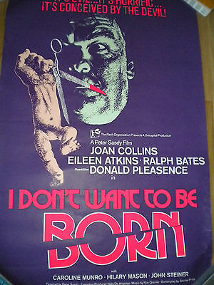 I Don't Want to be Born film poster