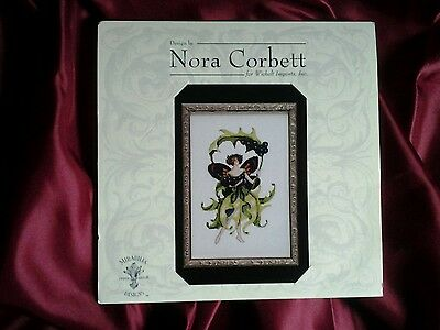 "NEW Nora Corbett ""Inkberry Holly"" Pixie Blossoms Collection Cross Stitch Chart"