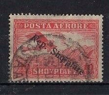 ALBANIA ' AIR ' 1927, SG205 TY32 10q RED, USED......CAT VAL £10.00+...