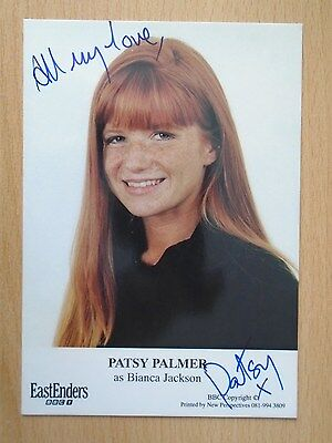 EASTENDERS PATSY PALMER as *Bianca Jackson* HAND SIGNED BBC Cast Card RARE!