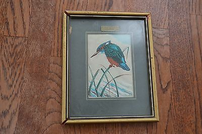 """Woven Silk Picture by Cash Ltd Coventry UK """"Kingfisher"""""""