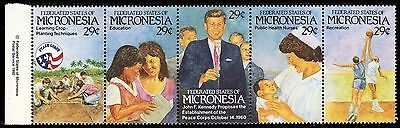 """MICRONESIA 150 - United States Peace Corps """"Strip of Five"""" (pa59832)"""
