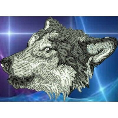Embroidered Long-Sleeved T-Shirt - Wolf  PE10