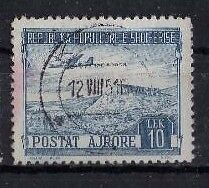 Albania ' Air ' 1950, Sg543 Ty99 10L Blue, Used.....cat Val £12.00+