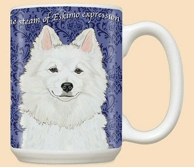 15 oz. Ceramic Mug (PS) - American Eskimo MU918