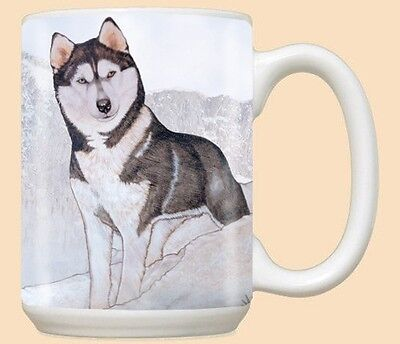 15 oz. Ceramic Mug (PS) - Siberian Husky MU927