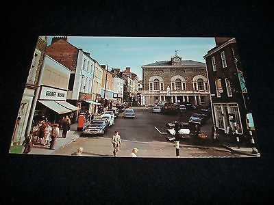Guildhall Square Carmarthen 1967 Old Postcard Featuring George Mason Shop + Cars