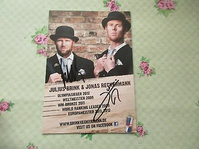 Original Autogramm - Julius Brink & Jonas Reckermann Beach Volleyballer Olympia