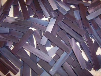 100 1/4'  Playful Purple Tumbled Border Stained Glass Mosaic Tiles