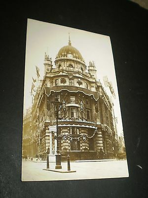 social history tottenham decorated for coronation 1910 rp photo  postcard