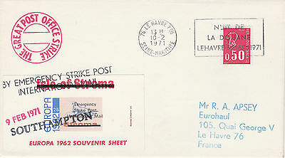 GB Locals (2171) - 1971 POSTAL STRIKE COVER to France
