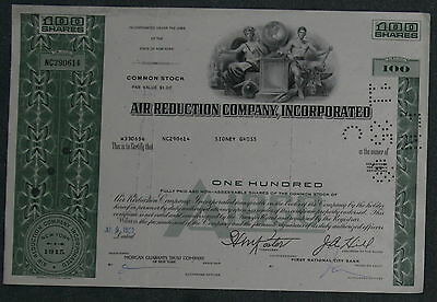 Air Reduction Company, Incorporated 1969 100 Shares