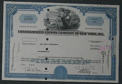 Consolidated Edison Company of New York, Inc. 1966  20 Shares