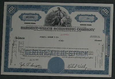 Sargent-Welch Scientific Company 1968   5 Shares