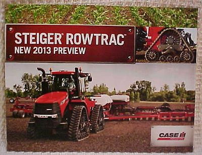 2013 Case IH Agriculture Steiger Rowtrac Tractor 350 400 450 brochure FREE S/H
