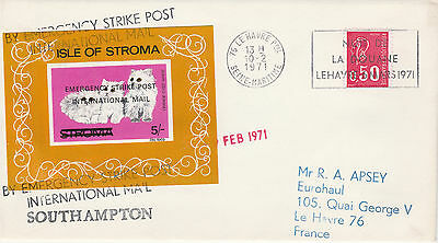 GB Locals (2176) - 1971 POSTAL STRIKE COVER to France