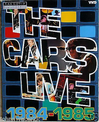 THE CARS LIVE CONCERT 1984-1985 Japan VHD Mega Rare