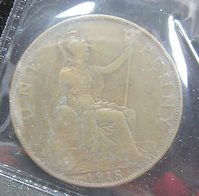 1918 Great Britain One Penny - K216