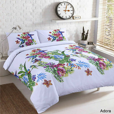 Luxury Duvet Cover with Pillow Case Quilt Cover Bedding Set (Adora) King Size