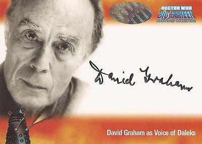 "Doctor Who Big Screen Additions - A2 David Graham ""Dalek Voice"" Autograph Card"