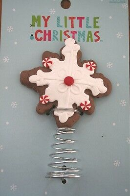 """NEW Mini GINGERBREAD COOKIE Christmas Tree Top Topper Peppermint Candy 3.6"""""""