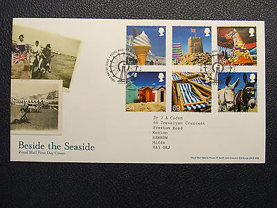 Royal Mail Fdc 2007 Beside The Seaside Cancelled Tallents House Edinburgh