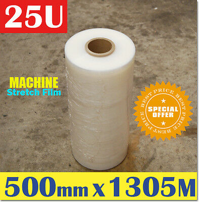 1 Roll 500mm x 1305M Meter - 25U Clear - Machine Stretch Film Pallet Shrink Wrap