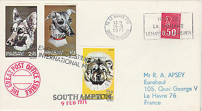GB Locals (2180) - 1971 POSTAL STRIKE COVER to France