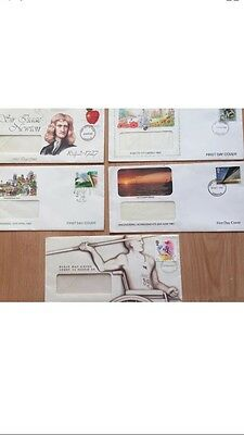 Job Lot of First Day Cover Stamps   X 5 From The 1980s Great Items