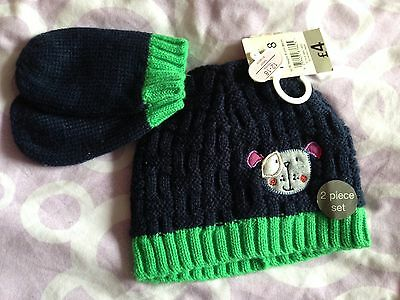 Boys Hat And Mittens Set 12-18 Months