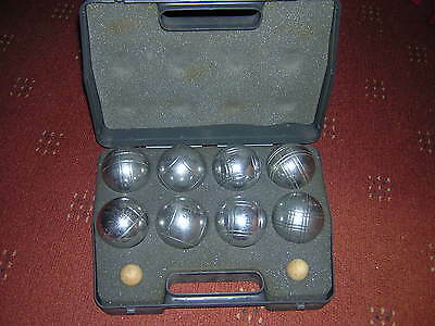 Set of Eight  Pentaque Heavy French Boules in Carrying Case