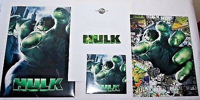 Hulk The Movie Press Kit Photo Disc Poster Press Info Book Promo 2003 Ang Lee