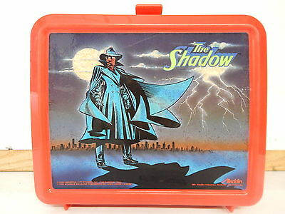 Vintage The Shadow Aladdin Plastic Lunch Box With Thermos Universal City Studios
