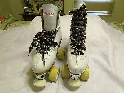Women's White Chicago Pro Star Leather Roller Skates.  Size 7.  Great Condition