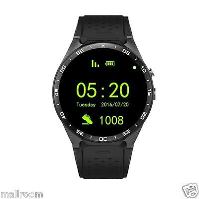 KW88 Quad Core 4GB Bluetooth SIM Card GPS Phone Wifi Smart Watch For Android IOS