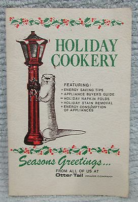 Otter Tail Power Co Vintage Holiday Cookery Christmas Cook Book Recipes FREE S/H