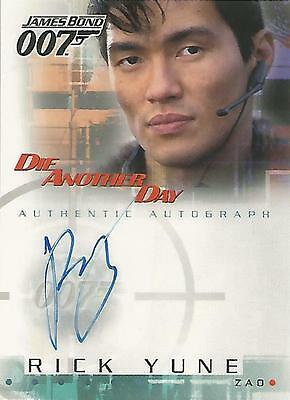 "James Bond Die Another Day - A6 Rick Yune ""Zao"" Autograph Card"