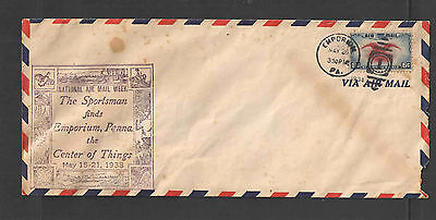 1938 Us National Air Mail Week Cover Emporium Pa