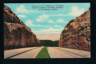 1946 view of the Big Cut on U.S Highway 66 at Hooker, between Lebanon & Rolla MO